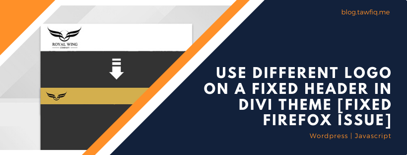 Use Different Logo on a Fixed Header in Divi Theme