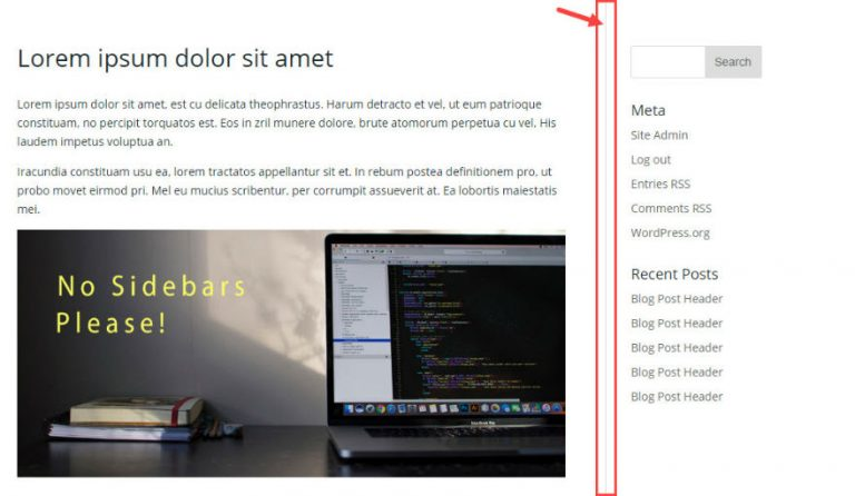 Divi – Remove the divider line between content and sidebar