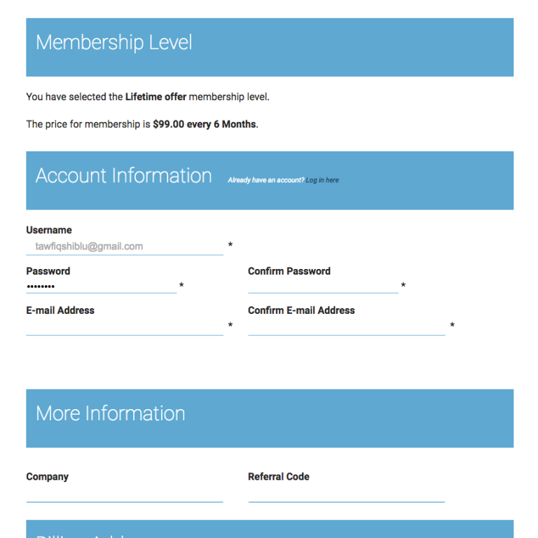 Paid Membership Pro – Styling the Checkout Page