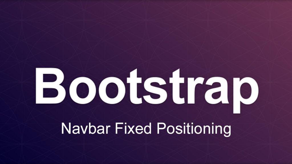 bootstrap 4 navbar fixed positioning