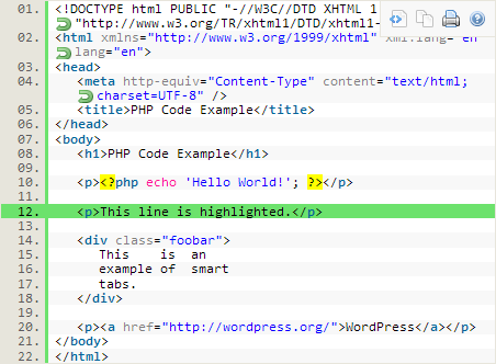 SyntaxHighlighter plugin