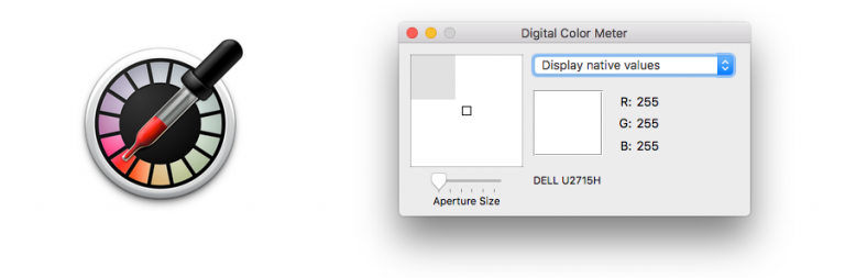 How to use Mac default color picker (Digital Color Meter) to copy any Color from an image or website