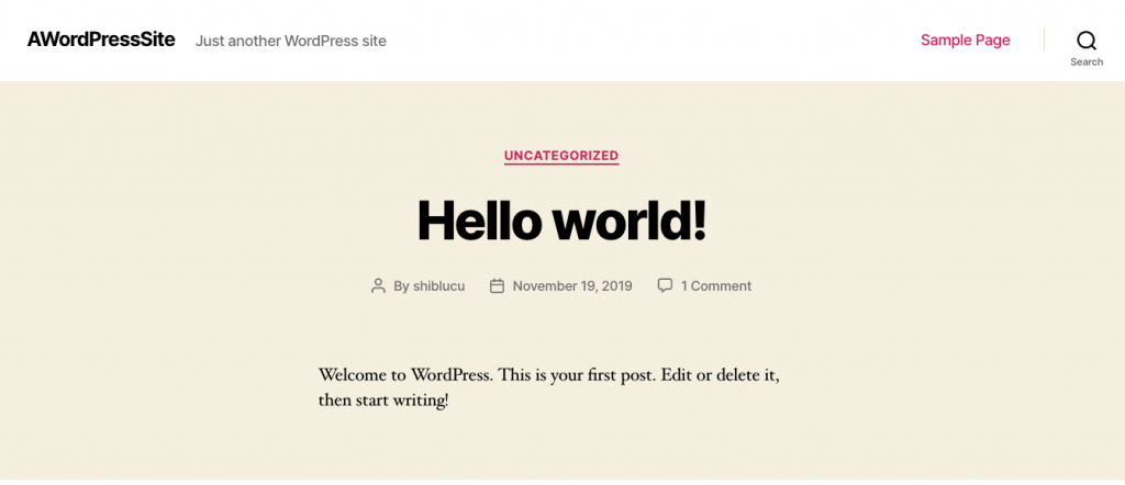 Godaddy Managed WordPress - 15 Hello World