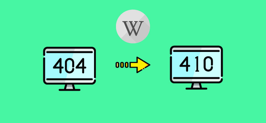 How to change all 404 to 410 error code in Wordpress